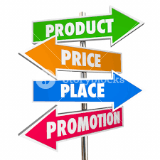 Product And Price Product Price Place Promotion 4 Ps Marketing Signs 3d