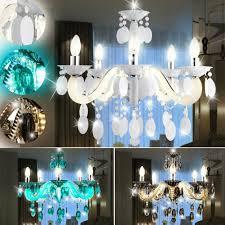 Design Lüster Chrom Kristall Lampe Pendel Decken Zimmer Wohn