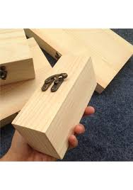 new arrival z paulownia wood small wooden box with lid and lock jewerally storage box wedding