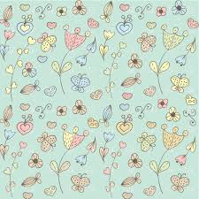 Free Floral Backgrounds Abstract Floral Background With Stylized Hearts And Flowers Vector