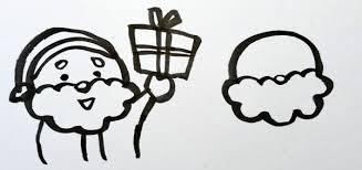 クリスマスまであと2ヶ月だしかわいいサンタクロースのイラストでも