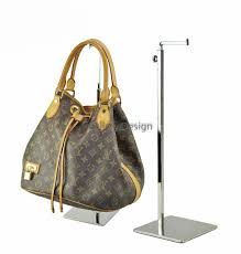 Mirrored Display Stands Square Corner Adjustable Metal Handbag Display Stand Holder Mirror 85