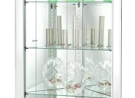 miller silver finish mirrored corner curio cabinet inside cabinets with glass doors design wood small nib