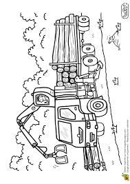 Coloriage D Un V Hicule Le Camion Transporteur De Bois