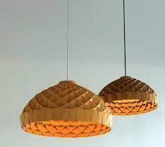 nest honeycomb woven bamboo pendant lamp by mycelium studios