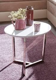 Couchtisch Weis Rund Oval Couch Esstisch Tisch Klein Glasplatte Mit