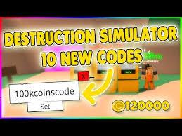 Destruction Simulator Codes – Roblox – October 2019