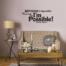nothing is impossible vinyl wall lettering stickers quotes and sayings home art decor decal vinyl wall stickers quote wall decals room decor wall stickers  on bedroom wall art stickers quotes with nothing is impossible vinyl wall lettering stickers quotes and