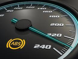 car dashboard antilock brake system abs warning light