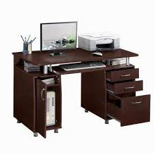 Desks for home office Double Chocolate Complete Workstation Computer Desk With Storage The Home Depot Desks Home Office Furniture The Home Depot