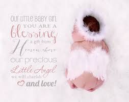 Baby Blessing Quotes Classy Word Overlay Our Little Baby Girl You By SugarPickle Designs On