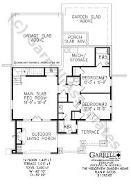 Hedgeview Garden Home House Plan   Covered Porch Plans    hedgeview garden home house plan   nd floor plan