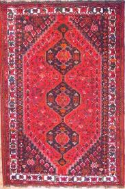 red colored shiraz persian rug from the city of shiraz in iran