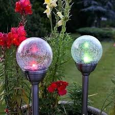 colour changing solar garden lights colour changing solar stainless steel led outdoor garden glass ball post