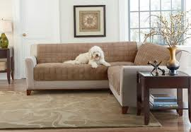 contemporary living room with brown sofa covers