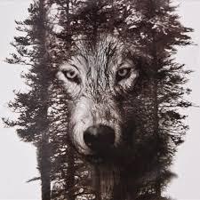 водонепроницаемый временные татуировки наклейки грудь часы волк лес татуировки