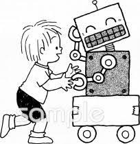 工作 ロボットイラストなら小学校幼稚園向け保育園向け自治会