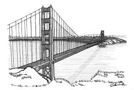 Models Architectural Drawings Of Bridges Drawing Golden Gate Bridge By Calvin Durham Throughout Impressive Ideas
