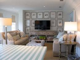 Seaside Bedroom Decorating Decorations Beach House Living Room Decorating Idea With Striped