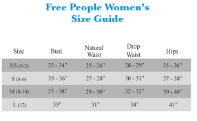 Free People Chart Free People Size Chart Best Picture Of Chart Anyimage Org