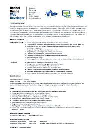 web developer resume examples Web developer resume is needed when someone  want to apply a job