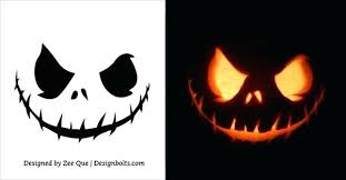 Scary Pumpkin Carving Patterns Adorable Free Scary Pumpkin Carving Stencils Patterns Ideas Face Faces Images