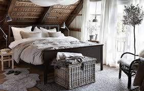 ikea black bedroom furniture. Modren Ikea IKEA Has Rustic Bedroom Furniture Like HEMNES Bed Frame In Blackbrown  Stained Solid Pine To Ikea Black Bedroom Furniture R