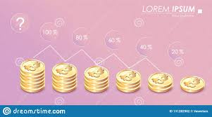 Bitcoin Currency Chart Bitcoin Illustration Growth Graph On Pastel Background
