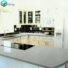 cheerful light gray quartz countertops grey white shaker kitchen cabinets marble medium to