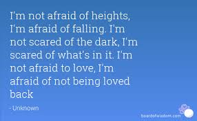 Scared To Fall In Love Quotes Fascinating I'm Not Afraid Of Heights I'm Afraid Of Falling I'm Not Scared Of