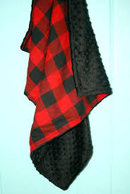 buffalo plaid baby blanket backing bedding nursery decor set