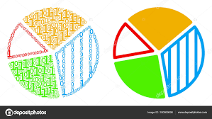 Pie Chart Collage Of Binary Digits Stock Vector Ahasoft