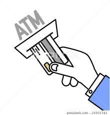 Insert Card Atm Stock Illustration 29305782 Pixta