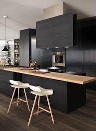 modern black kitchens. Delighful Modern 25 Absolutely Charming Black Kitchen Interiorforlifecom Pale Wood Against  Matt Black Contemporary Kitchen With Modern Kitchens P
