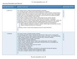 6 Moving Checklist Excel Pdf