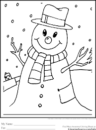 Winter Coloring Pages Snowman