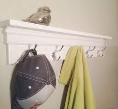 Decorative Coat Rack With Shelf Awesome Towel Hooks Coat Rack Decorative Shelf In White Decorative