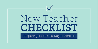 New Teacher Checklist Your Plan For The First Day Of School