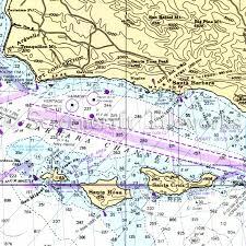 California Nautical Charts California Santa Barbara Nautical Chart Decor