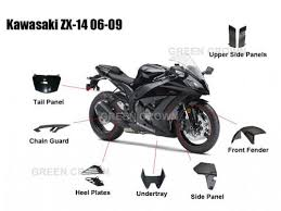 carbon fiber motorcycle parts for kawasaki zx14r carbon fiber