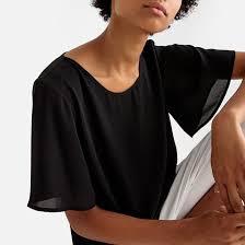 <b>Блузка</b> с круглым вырезом и короткими рукавами <b>La Redoute</b> ...