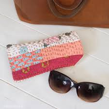 sew a sunglasses case with ss kantha stitching diy handmade sunglasses pouch radiant