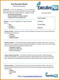 Business Plan Executive Summary Template Farmer Resume Templa Cmerge