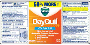 Vicks Dayquil Cold And Flu Multi Symptom Relief Liquid The