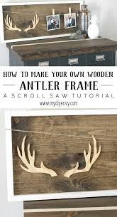 how to make a diy wooden antler frame