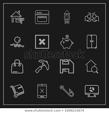 Modern Simple Vector Icon Set On Stock Vector Royalty Free