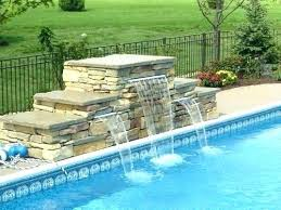 inground pools with waterfalls. Inground Pool With Waterfall S Plumbing Kit Designs Pools Waterfalls E