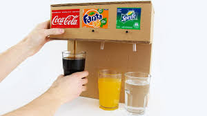 How to Make Coca Cola Soda Fountain Machine with 3 Different Drinks at Home.  The Q