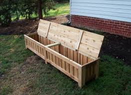 deck storage box bench plans