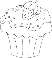 Free Coloring Pages Of Cupcake Para